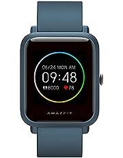 Amazfit Bip S Lite Smartwatch voor heren en dames, 1,28 inch always-on kleurendisplay, fitnesstracker met 30 dagen batterij, 150 wijzerplaten, 5 ATM waterdicht, hartslag, slaapmonitor, muziekbesturing