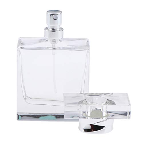 harayaa Atomizador de Botella de Spray de Perfume de Vidrio de Corte de Cristal Vacío de 50 Ml para Colonia