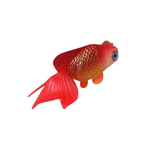 Damonday Aquarium Landschaftsbau Aquarium Dekoration Gummi Weichen Körper Kleine Gefälschte Fische Plastikfische Kleine Goldfische Schwimmende Künstlich Deko Fisch Ornament Dekoration (D)