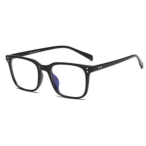 Occhiali Anti Luce Blu, Blue Light Blocking Glasses Anti Eyestrain Lens Cornice Quadrata Occhiali Uomo Donna Nero