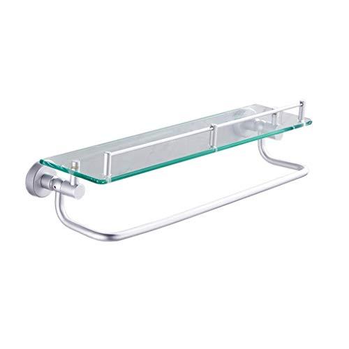 MJY Carrito Plegable Portátil Multifunción Plegable Carrito de Compras, Marco de Esquina Carrito de Ducha Baño Estante de Almacenamiento Lavabo Glassr Space Aluminio para Baño Cocina