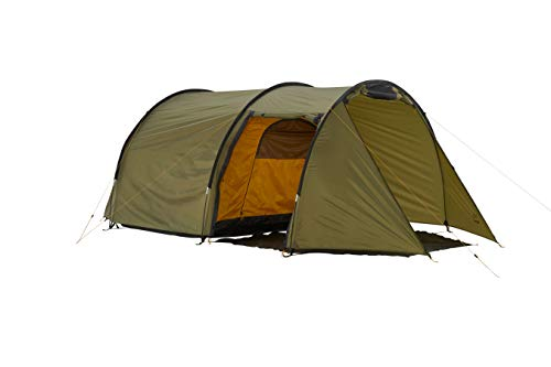 Grand Canyon ROBSON 3 - tienda de túnel para 3 personas, ultraligera, impermeable, tamaño pequeño, tienda para trekking, camping, exterior | Capulet Olive (verde)