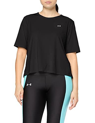 Under Armour Armour Sport SS Camisa Manga Corta, Mujer, Negro, LG