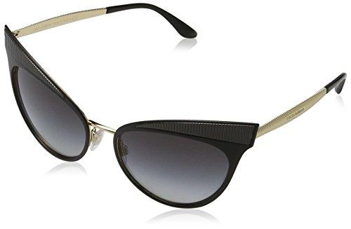 Dolce & Gabbana Damen 0DG2178 13128G 57 Sonnenbrille, Schwarz (Matte Black/Gradient)