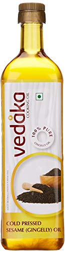 Amazon Brand - Vedaka Cold Pressed Sesame (Gingelly) Oil Bottle, 1L