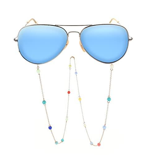 YFQHDD Cuerda de cordón para Gafas Coloreado Gafas de Cuentas Cadena de Cadena Correa Gafas de Sol Cuerdas Vidrios Casuales Accesorios (Color : A, Size : Length-70CM)