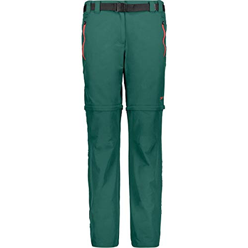 CMP Zip off Wanderhose, Pantaloni Donna, Lago, D34