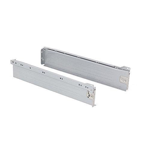 Emuca 3054025 Kit Cassetto H86, Verniciato Alluminio, 450mm