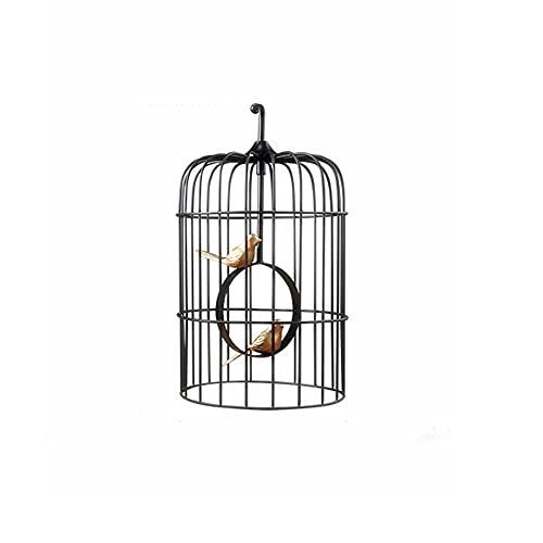 XIAOSAKU La Jaula de pájaros de Hierro Forjado Creativo Retro con Asas, Accesorios de cúpula, jaulas de Aves se Pueden Usar en Interiores y Exteriores (Size : B)
