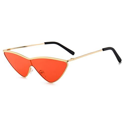 Secuos Gafas De Sol De Una Pieza De Moda para Mujer, Diseñador De Marca Clásico, Lindas Y Atractivas Gafas De Sol De Ojo De Gato Uv400 C3