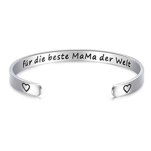 USEEDOVIA Pulsera para mujer y hombre | Pulsera clásica grabada para el día a día de la madre, pulsera para siempre, ajustable, para mujeres, hombres, niñas, regalos para Pascua, Día de la Madre