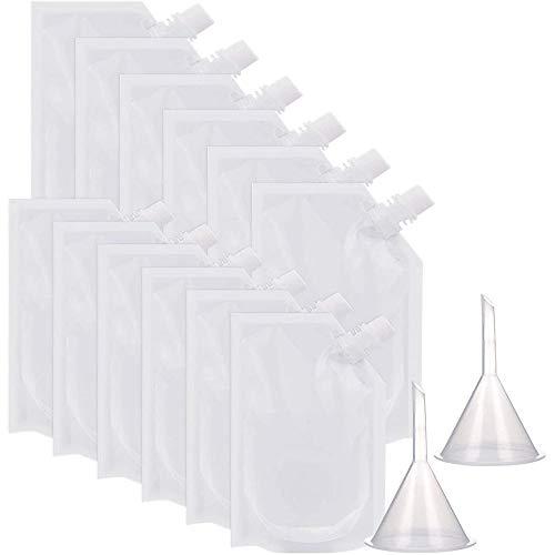 Paquete de 20 frascos de plástico para bebidas de 250 ml y 350 ml con 2 embudos