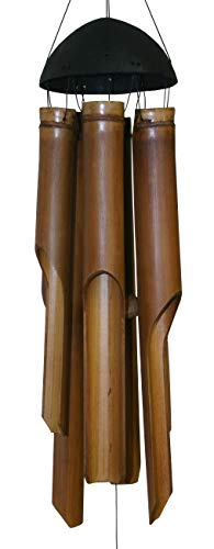 Cohasset Gifts 132 Cohasset Bamboo Wind Chime, Small Plain Antique