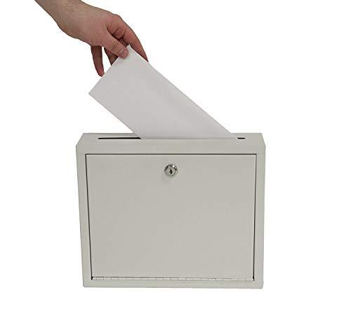 "Adir Multi Purpose, Mail Box, Drop Box, Suggestion Box, Wall Mountable, 3"" x 10"" x 12"" - Sand Beige, Large (ADI631-03)"