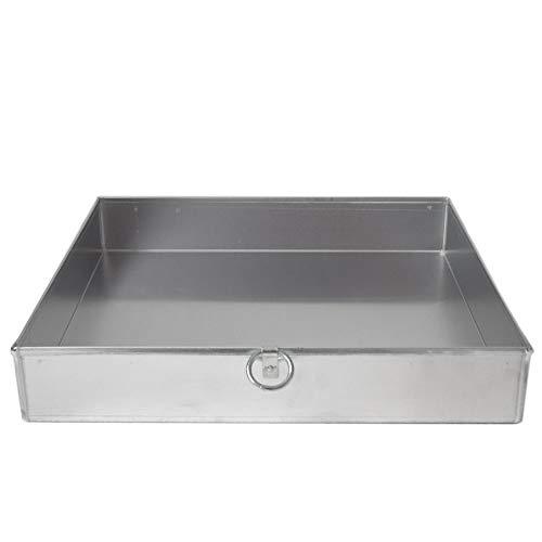 Giemme Spoleto bakplaat van voedselveilig aluminium 37x37 cm - hoogte van de rand 6 cm met ring