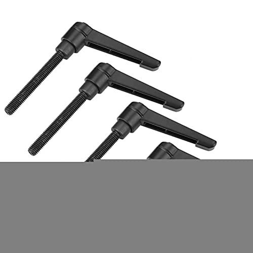 Zunate 4 Uds perillas de máquina de Metal M6 manija de Rosca Macho perillas de máquina M6 Perilla Ajustable de Rosca Macho Herramienta de perillas de máquina(Screw Length 50MM)