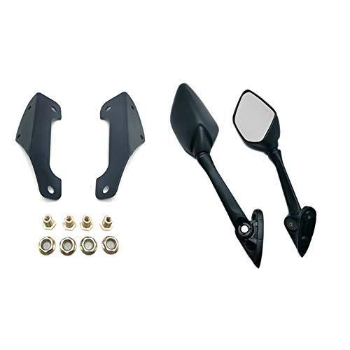 Espejos traseros de motocicleta Espejo Retrovisor De Motocicleta, Adaptador De Espejos Retrovisores, Soporte De Stent Fit For Adv150 2019 2020 Espejos laterales de motocicleta ( Color : Black )