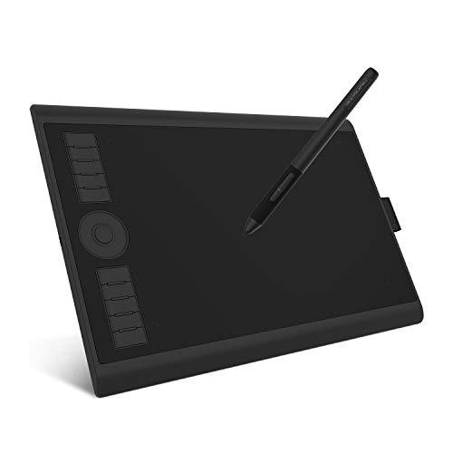 """GAOMON M10K PRO -10"""" X 6,25 """" Zeichentablett mit AP32 Battrielosem Stift, unterstützung OTG-Funktion, kompatibel mit Windows/Mac/Android Handy"""