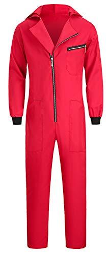 Seawhisper Disfraz de depredador banquero rojo mono hombre mujer rojo XS