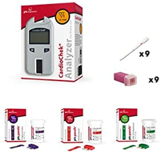 CardioChek Analyzer Starter Cholesterol kit with 3 Count Cholesterol Test Strips by PTS Panels