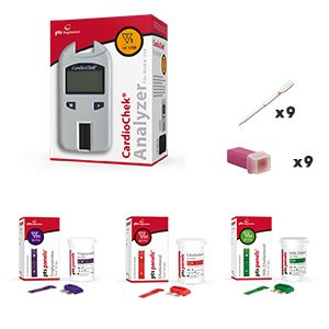 CardioChek Analyzer Starter Cholesterol kit with 3 count cholesterol test strips...