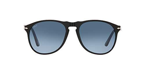Persol 0PO9649S Occhiali, Black/Blue Shaded, 52 Uomo
