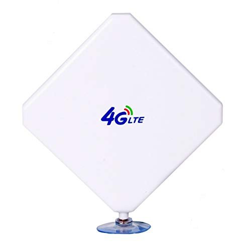 Aigital 4G Antenna TS9 LTE Antenna 35dBi High Gain Long Range Network Antenna with Suction Cup and 2m Extension Cable for 4G WiFi Router Mobile Hotspot Outdoor Signal Booster TS9 Male Connector(New)