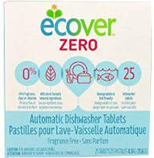 E-Cover Automatic Dishwashing Tablets Zero, 25 Count, 17.6 Ounce 2-Pack