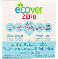 Ecover Automatic Dishwashing Tablets Zero, 25 Count, 17.6 Ounce 2-Pack