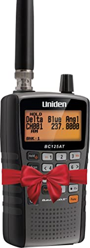 Uniden Bearcat BC125AT Handheld Scanner, 500-Alpha-Tagged Channels, Close Call Technology, PC Programable, Aviation, Marine, Railroad, NASCAR, Racing, and Non-Digital Police/Fire/Public Safety.