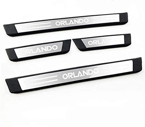 4 Piezas Acero Inoxidable Protector Umbral Puerta para Chevrolet Orlando, Anti Arañazos...