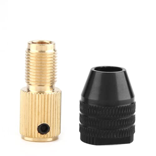 01 Portabrocas autoapriete, portaherramientas Giratorio Antideslizante de 0,3-3,4 mm, Pulido de Pulido Resistente al Desgaste para taladrar(Apertura 2,35 mm)