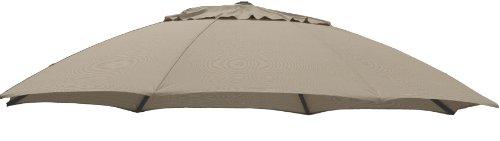 Sun Garden Ersatzbezug zum Easy, 100 prozent Polypropylen, Stoff B054, Durchmesser 375 cm, braun/taupe