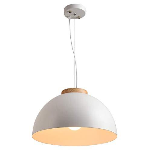 Led-hanglamp, eettafel, hanglamp, modern, landelijke stijl, houten kroonluchter, creatief, rond, metaal, lampenkap E27 gloeilamp voor binnen, woonkamer, slaapkamer, eetkamer, keuken