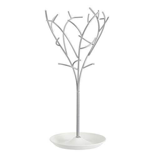 Amazon Basics - Portagioielli ad albero, bianco/nichel