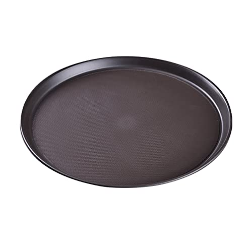 OMYLFQ Bandejas Servir Sirviendo Platos Trans Breakfast Almuerzo Cena Cena Pan Placa para Tea Cup Home Kitchen Restaurante Pizza Pan Hornear Cocina Fuentes Cocina (Color : Gray, Size : S)