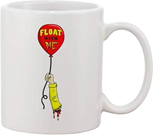 N\A Taza de café de cerámica Flota Conmigo Brazo Cortado Película de Terror