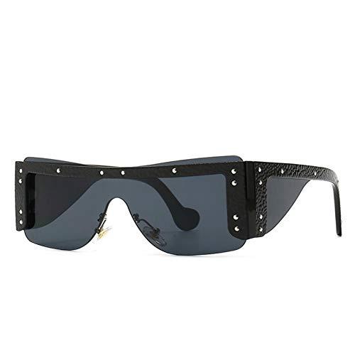 ZZOW Gafas De Sol De Lujo Rectangulares Sin Montura De Una Pieza De Moda para Mujer, Gafas De Diseñador De Marca, Gafas De Sol para Mujer, Sombras Uv400 para Hombre