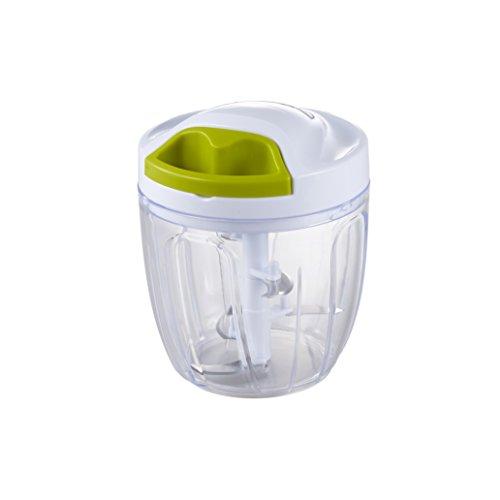 竹原製缶 みじん切り器 BIG 野菜 チョッパー ホワイト 直径12.5×高さ15.5cm 簡単ひもを引くだけ 容量2倍 880ml 5枚刃 A-82