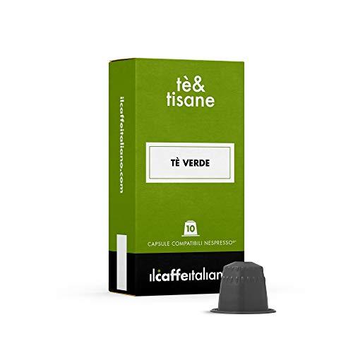 FRHOME - 50 Capsulas de te compatibles Nespresso - Te verde - Il Caffè italiano