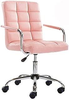 ALK PU Leather Heavy Duty Adjustable Swivel Office Chair (Pink)
