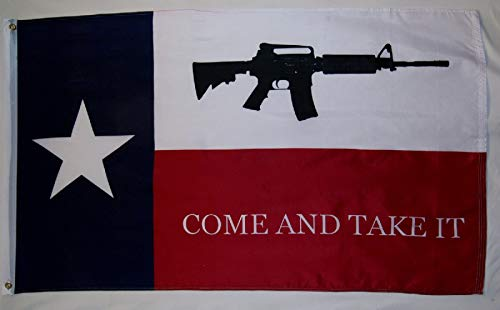 Nuge Texas Come and Take It Flag 3x5 Pieds Indoor Out Door Liberty Banner