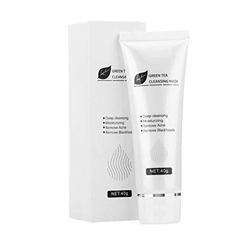 OUTEYE Crema Facial Peel-Off de té Verde, removedor de espinillas, Gel Facial, Gel de Limpieza Profunda antiacné, Crema Facial minimizadora de poros