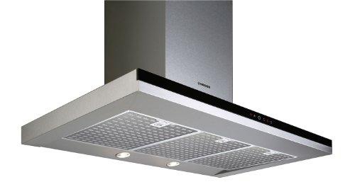 Nodor Mirage Premium 900 black Wandhaube / 90,0 cm/Eco-Beleuchtung mit Dimmfunktion/edelstahl/schwarz