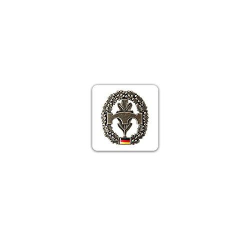 Aufkleber/Sticker -Pionier Barettabzeichen Pioniertruppe Streitkräfte Bundeswehr Heer Deutschland Einheit Militär Uniform Offizier Soldaten Wappen Emblem 7x7cm #A3221