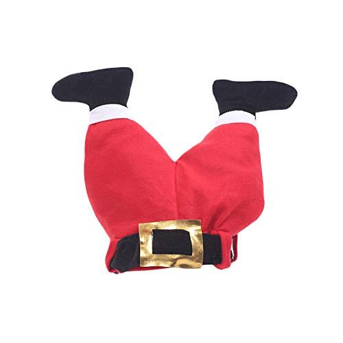 LPxdywlk Weihnachtsmütze Weihnachtsmann Plüsch Stoff Bein Hose Hut Für Kinder Erwachsene Weihnachtsfeier Dekoration