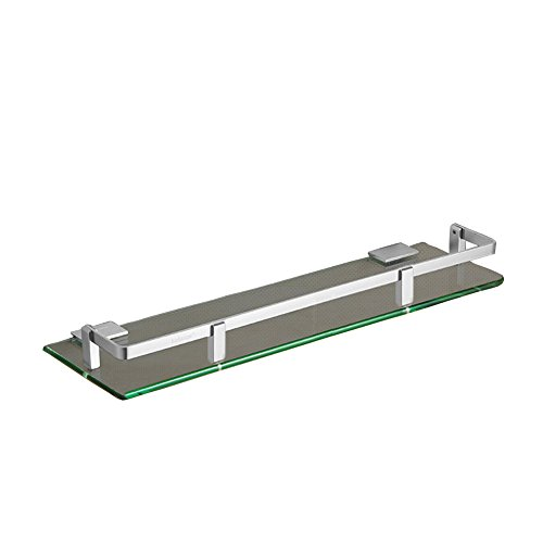 WYYY Etagère Tablette Porte-serviettes Rack Pas Besoin De Punch Mur Salle De Bain Aluminium Space Monocouche Verre