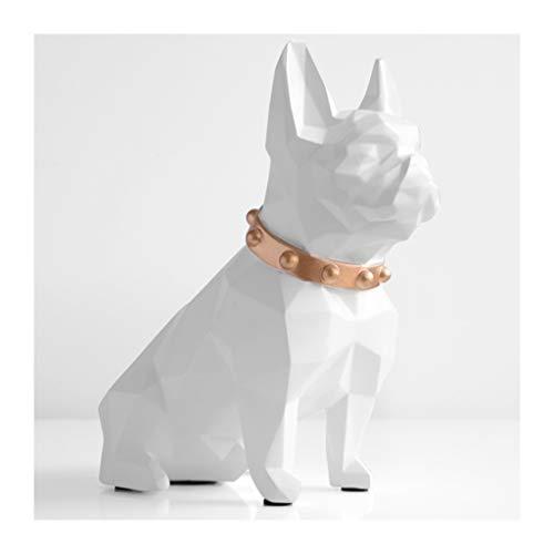 Zunruishop spaarvarken hars puppy Bank leuke bulldog munten geld besparen box Home Desk Decor Ornament Groot geschenk spaarvarken voor meisjes