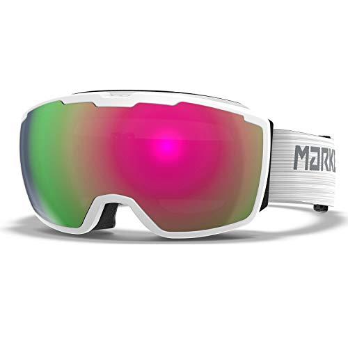 Marker Unisex– Erwachsene Perspective+ White w/PINK Plasma MI Skibrille, Einheitsgröße