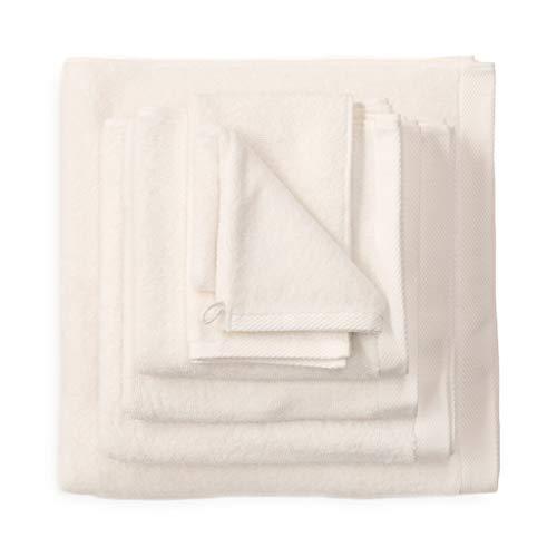 Heckett Lane Bath Hand Towel, 100% Cotton, Off-White, 50 x 100 Cm, 3.0 Pieces